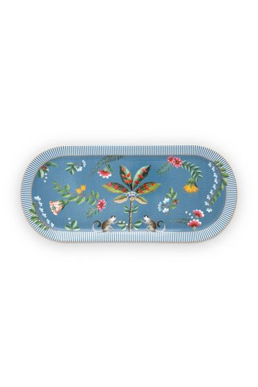 rectangular-cake-tray-la-majorelle-made-of-porcelain-with-flowers-in-blue