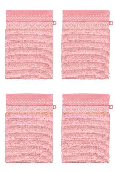 Wash Cloth Set/4 Soft Zellige Pink 16x22 cm