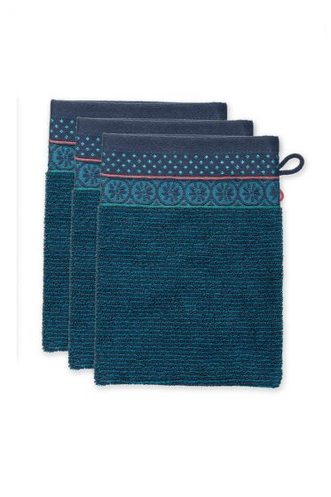Washcloth-set/3-dark-blue-16x22-cm-pip-studio-soft-zellige-cotton