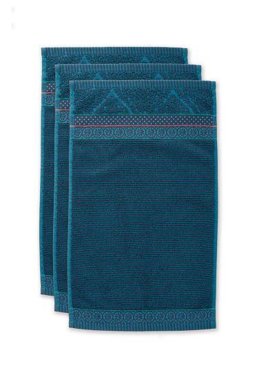 Guest-towel-set/3-dark-blue-30x50-cm-pip-studio-soft-zellige-cotton