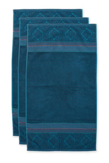 Handtuch-set/3-dunkel-blau-55x100-soft-zellige-baumwolle