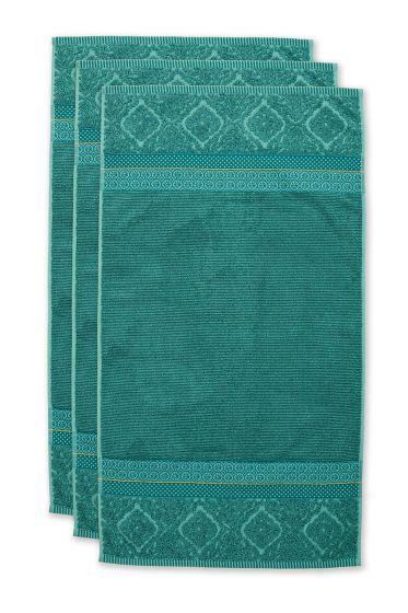 Handdoek-set/3-groen-55x100-soft-zellige-katoen