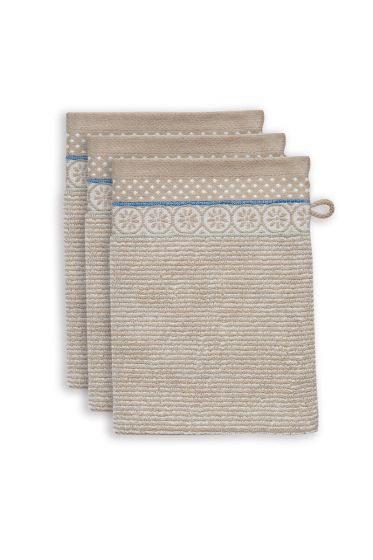 Washcloth-set/3-khaki-16x22-cm-pip-studio-soft-zellige-cotton