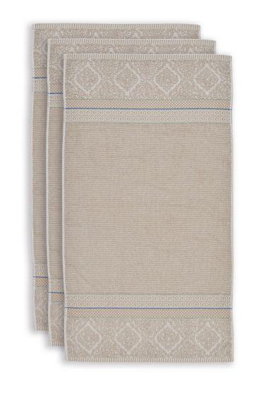 Towel-set/3-khaki-55x100-pip-studio-soft-zellige-cotton