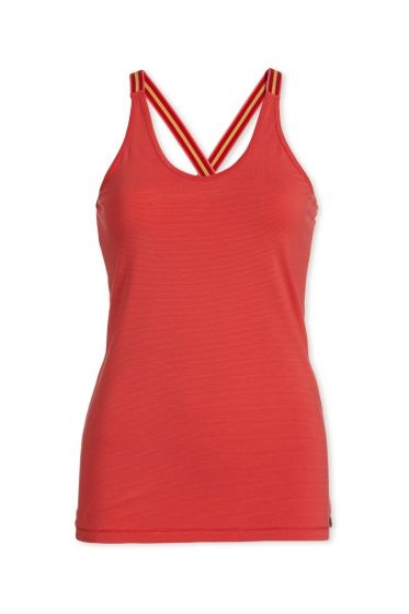 Top sleeveless Stripers Pink