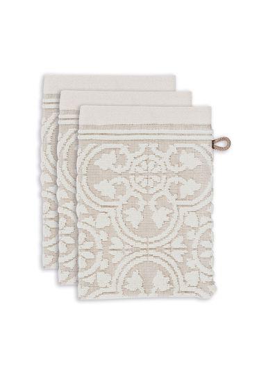 washandje-set/3-barok-print-khaki-16x22-tile-de-pip-katoen