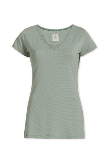 Top short sleeve Stripers Light Green