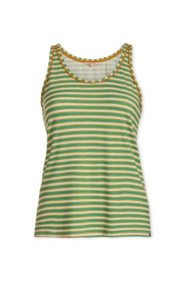 Top sleeveless Sleepy Stripers Green