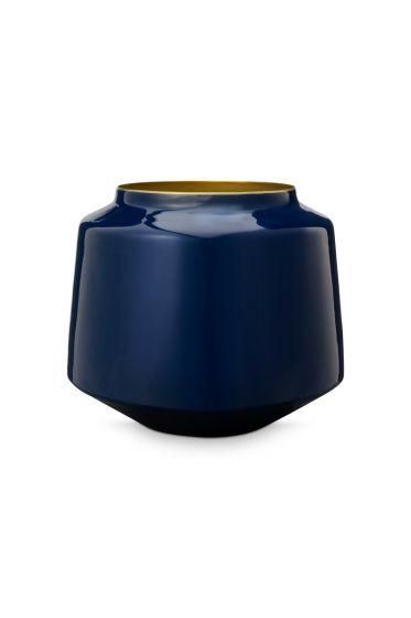 Vase-klein-dunkel-blau-metall-royal-pip-studio-22x26-cm
