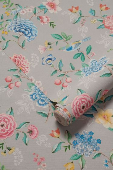 wallpaper-non-woven-vinyl-flowers-sand-pip-studio-good-evening