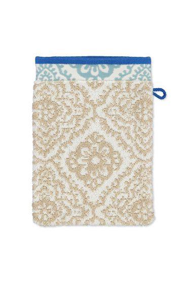 Wash-cloth-khaki-floral-16x22-jacquard-check-pip-studio-cotton-terry-velour
