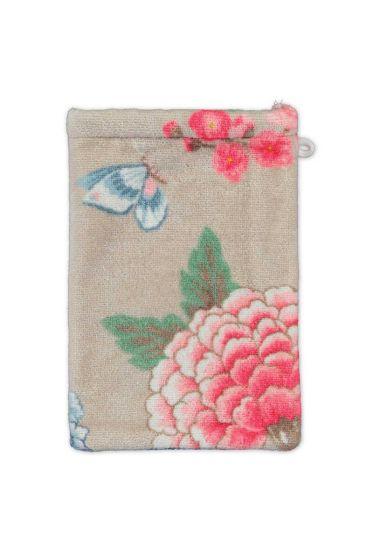 Wash-cloth-khaki-floral-16x22-good-evening-pip-studio-cotton-terry-velour