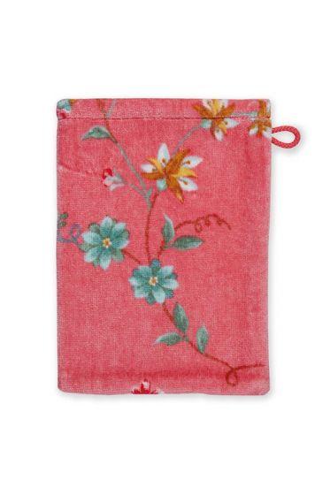 Wash-cloth-pink-floral-16x22-les-fleurs-pip-studio-cotton-terry-velour