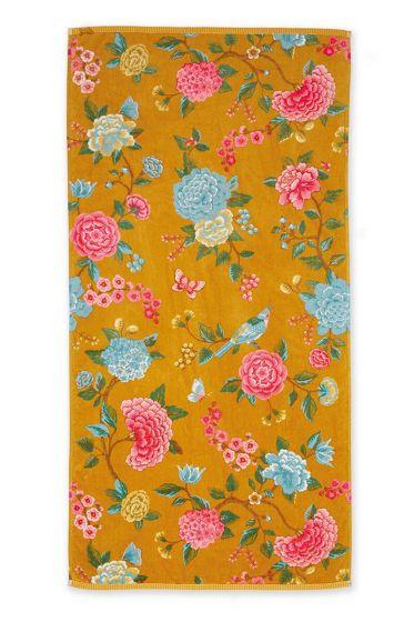Bath-towel-xl-floral-yellow-70x140-good-evening-pip-studio-cotton-terry-velour