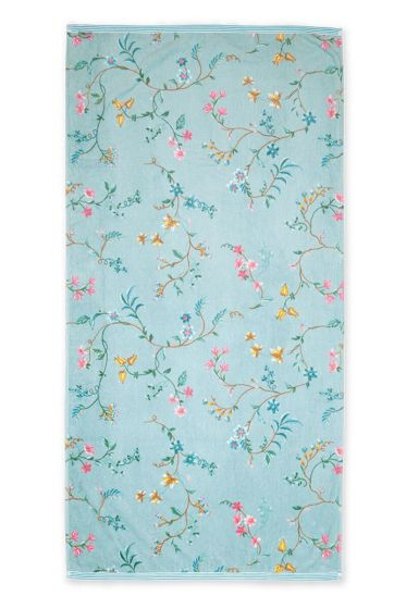 Bath-towel-xl-floral-blue-70x140-les-fleurs-pip-studio-cotton-terry-velour