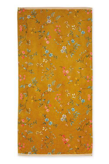 Duschlaken-handtuch-xl-blumen-gelb-70x140-les-fleurs-pip-studio-baumwolle-velours-frottier