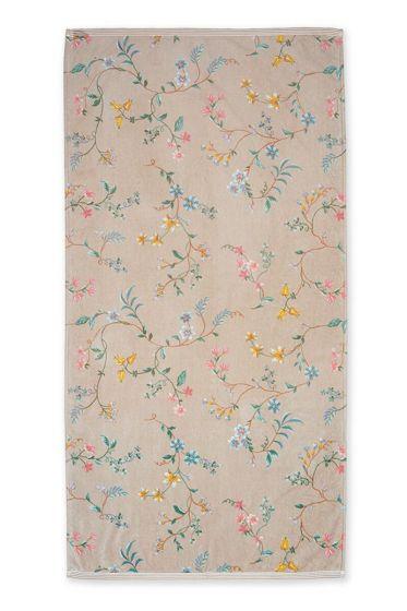 Bath-towel-xl-floral-khaki-70x140-les-fleurs-pip-studio-cotton-terry-velour