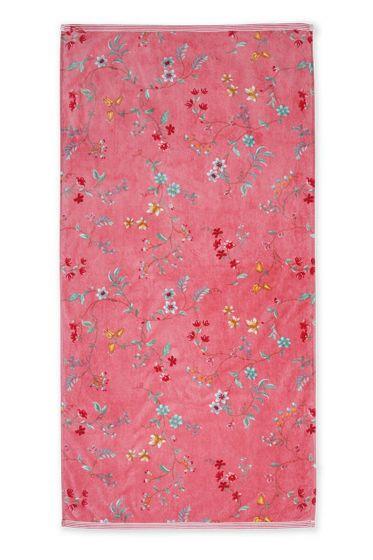 Bath-towel-xl-floral-pink-70x140-les-fleurs-pip-studio-cotton-terry-velour