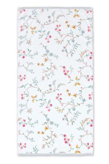 Bath-towel-xl-floral-white-70x140-les-fleurs-pip-studio-cotton-terry-velour