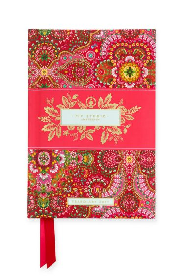 Year Diary 2021 A6 Moon Delight Red