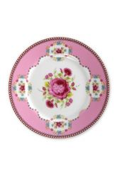Floral Pastry Plate pink 17 cm