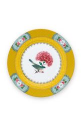 Blushing Birds Plate Pastry Yellow 17 cm