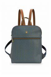 Backpack-dark-blue-star-tile-pip-studio-28x36x11-cm
