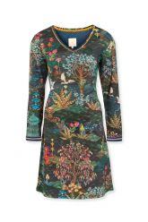Night-dress-long-sleeve-botanical-print-blue-pip-garden-pip-studio-xs-s-m-l-xl-xxl
