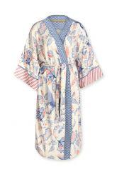 Kimono Royal Birds Gebroken Wit Plus Size