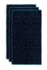 Handtuch-set/3-barock-drucken-dunkel-blau-55x100-tile-de-pip-baumwolle