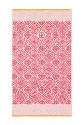 Duschlaken-handtuch-dark-pink-55x100-jacquard-check-pip-studio-baumwolle-velours-frottier
