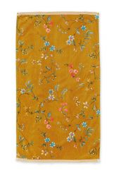 Bath-towel-floral-yellow-55x100-les-fleurs-pip-studio-cotton-terry-velour