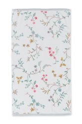 Bath-towel-floral-white-55x100-les-fleurs-pip-studio-cotton-terry-velour