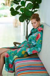 Badjas-groen-bloemen-good-evening-pip-studio-katoen-terry-velour