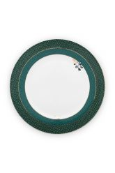 dinner-plate-winter-wonderland-made-of-porcelain-with-flowers-in-green-26,5-cm