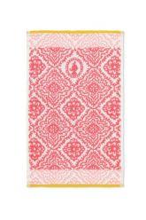 Gästetuch-dunkel-rosa-blumen-30x50-jacquard-check-pip-studio-baumwolle-velours-frottier