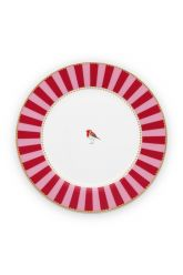 breakfast-plate-love-birds-in-red-and-pink-with-bird-21-cm