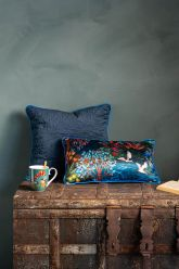 Cushion-set-blue-botanical-print-decorative-cushions-velvet-silk-pip-garden-quilted-pip-studio