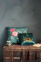 Cushion-set-green-floral-print-decorative-cushions-velvet-fleur-grandeur-singerie-pip-studio