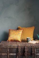 Kissen-set-gelb-blumen-drücken-zierkissen-samt-seide-petites-fleurs-quilted-pip-studio