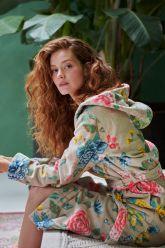 Bathrobe-khaki-floral-good-evening-pip-studio-cotton-terry-velour