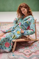 Badjas-blauw-bloemen-good-evening-pip-studio-katoen-terry-velour