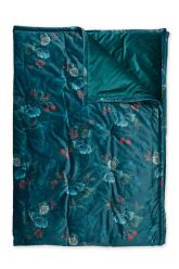 Quilt-Plaids-blue-quilts-blanket-130x170-throw-leafy-stitch-pip-studio-knitted-velvet