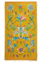 Beach-towel-yellow-floral-100x180-curio-pip-studio-cotton-terry-velour