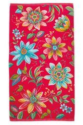 Strandlaken-roze-bloemen-100x180-exoticana-pip-studio-katoen-terry-velour