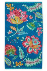 Beach-towel-blue-floral-100x180-jambo-flower-pip-studio-cotton-terry-velour