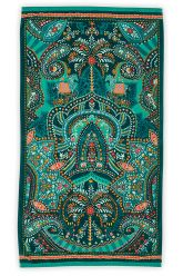 Beach-towel-green-floral-100x180-sunrise-pip-studio-cotton-terry-velour