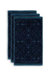 Guest-towel-set/3-baroque-print-dark-blue-30x50-pip-studio-tile-de-pip-cotton