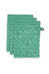 Washcloth-set/3-baroque-print-green-16x22-pip-studio-tile-de-pip-cotton