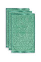 Guest-towel-set/3-baroque-print-green-30x50-pip-studio-tile-de-pip-cotton